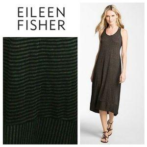 Eileen Fisher Linen Beachy Stripe Racerback Dress